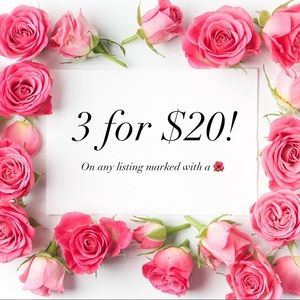 ✨ 3/$20 ON ANY LISTING MARKED WITH A 🌺!!